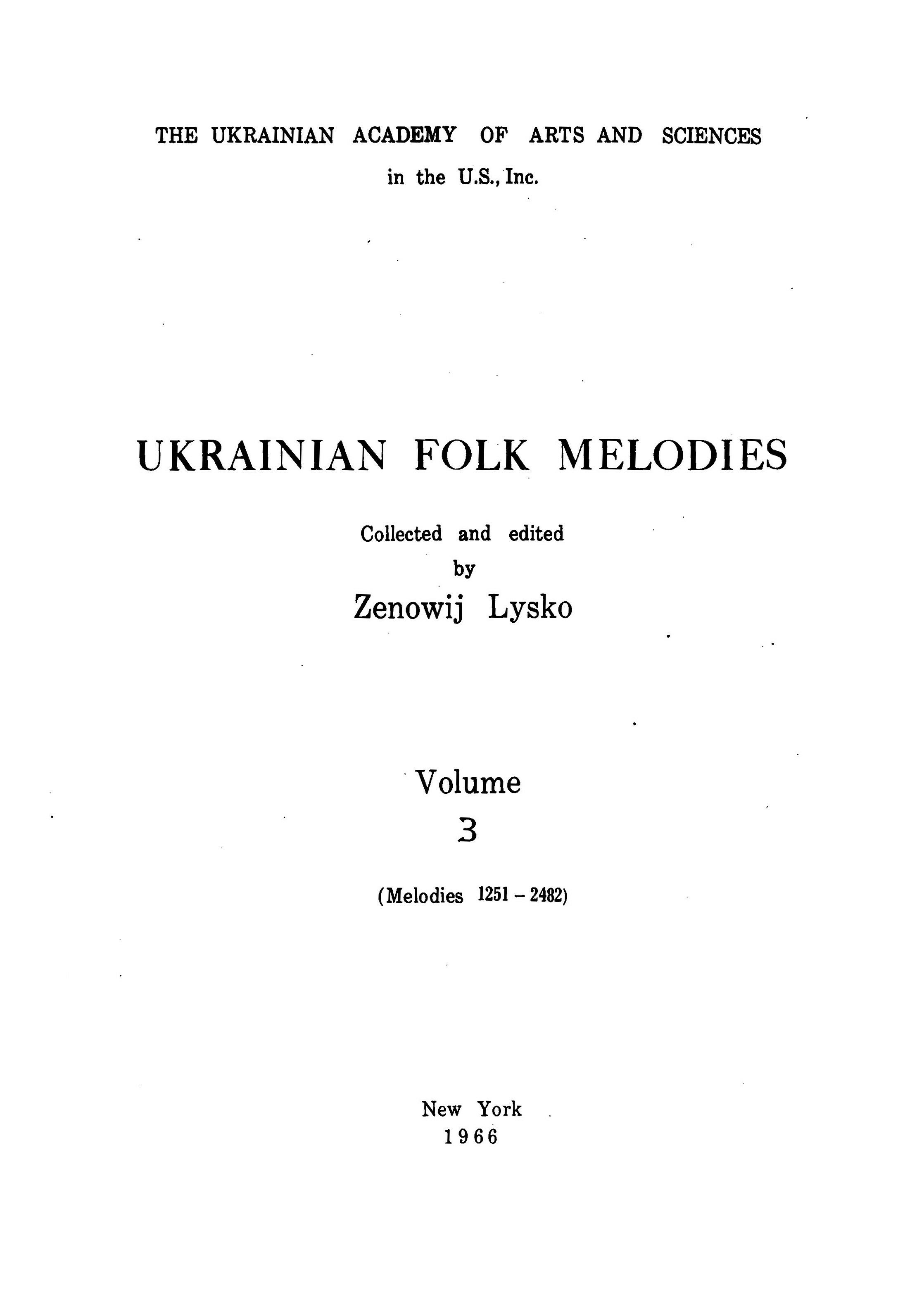 Ukrainian Folk Melodies , Vol.3_0003